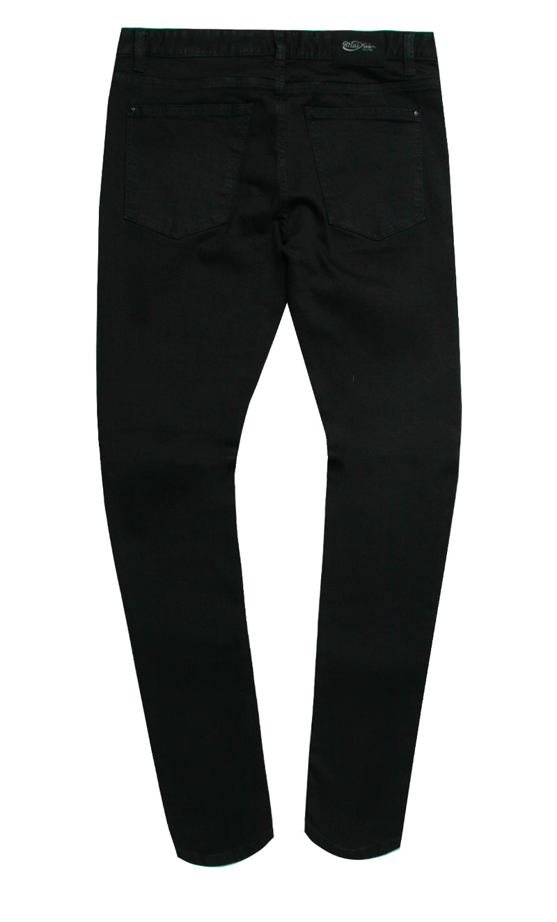 GOTHIKA CRYSTAL DENIM PANT BLK