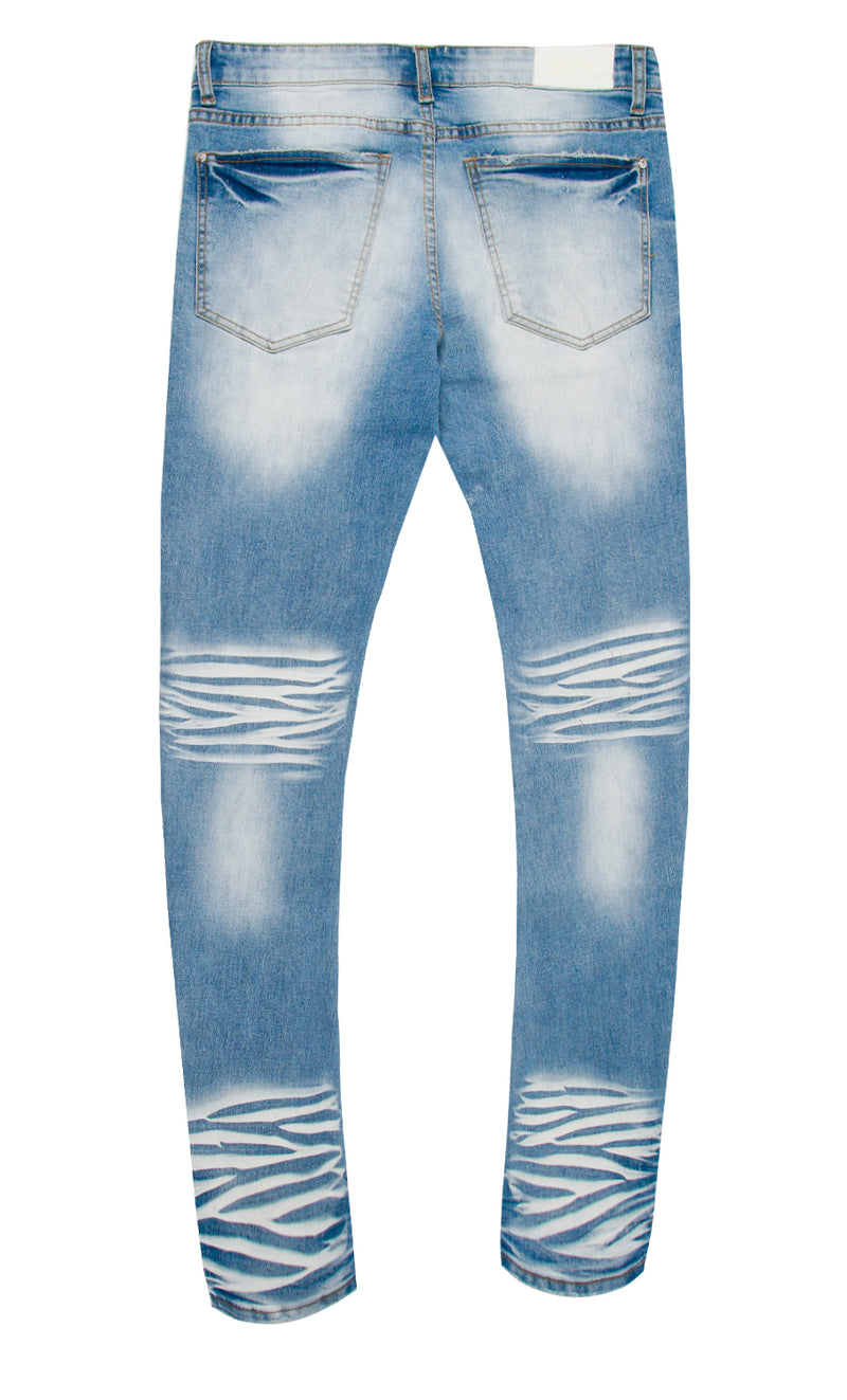 FANG DENIM PANT BLUE