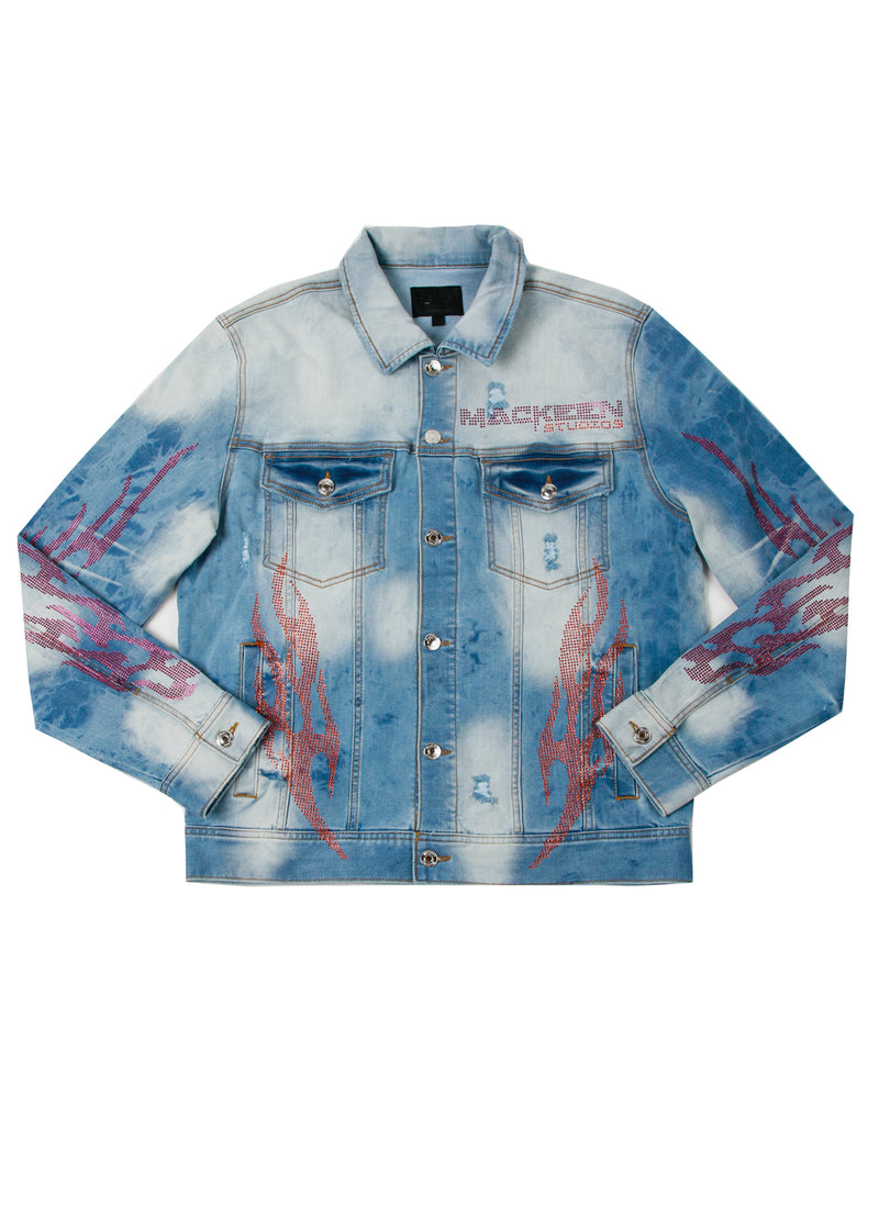 COMBUST CRYSTAL DENIM JACKET LIGHT