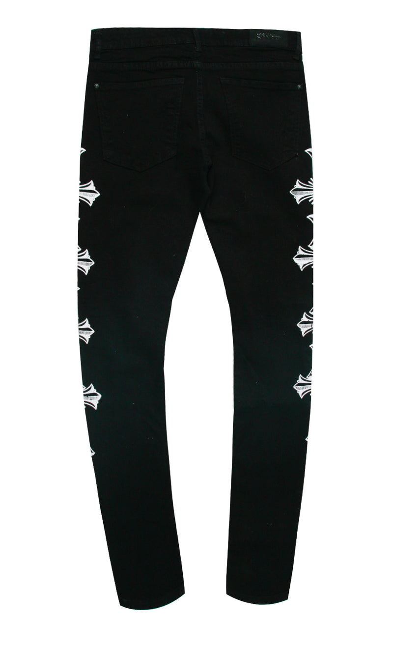 LANG EMBROIDERED DENIM PANT