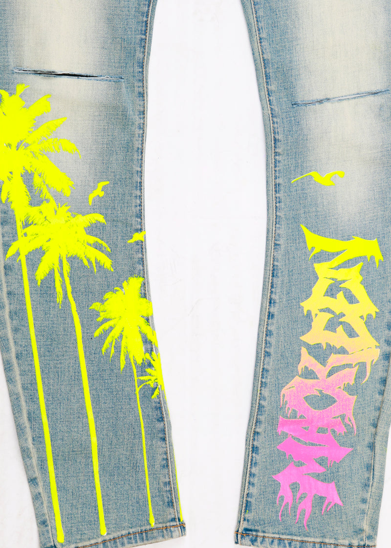 MALIBU PRINTED PANT LIGHT