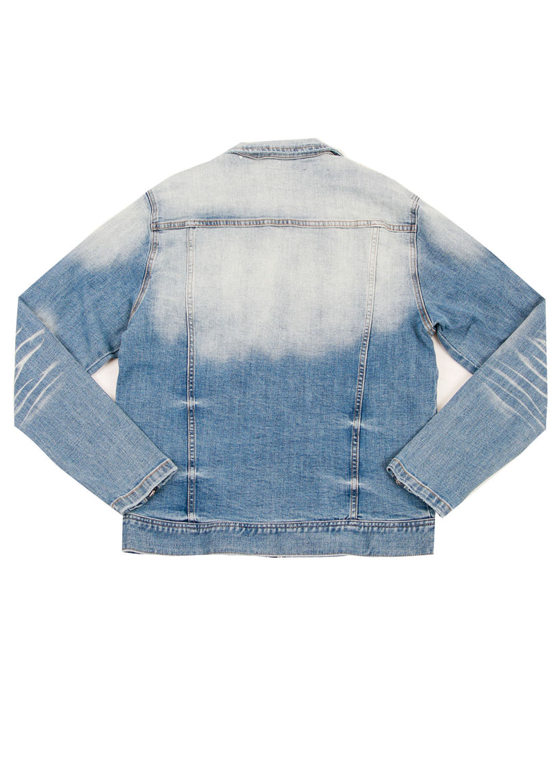 KURT REMOVABLE FUR COLLAR JACKET MED BLUE
