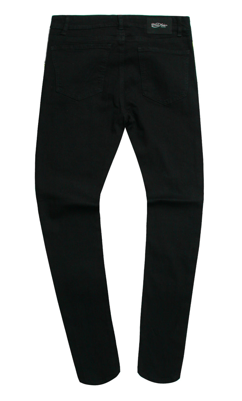MIRROR BURNOUT DENIM PANT BLACK