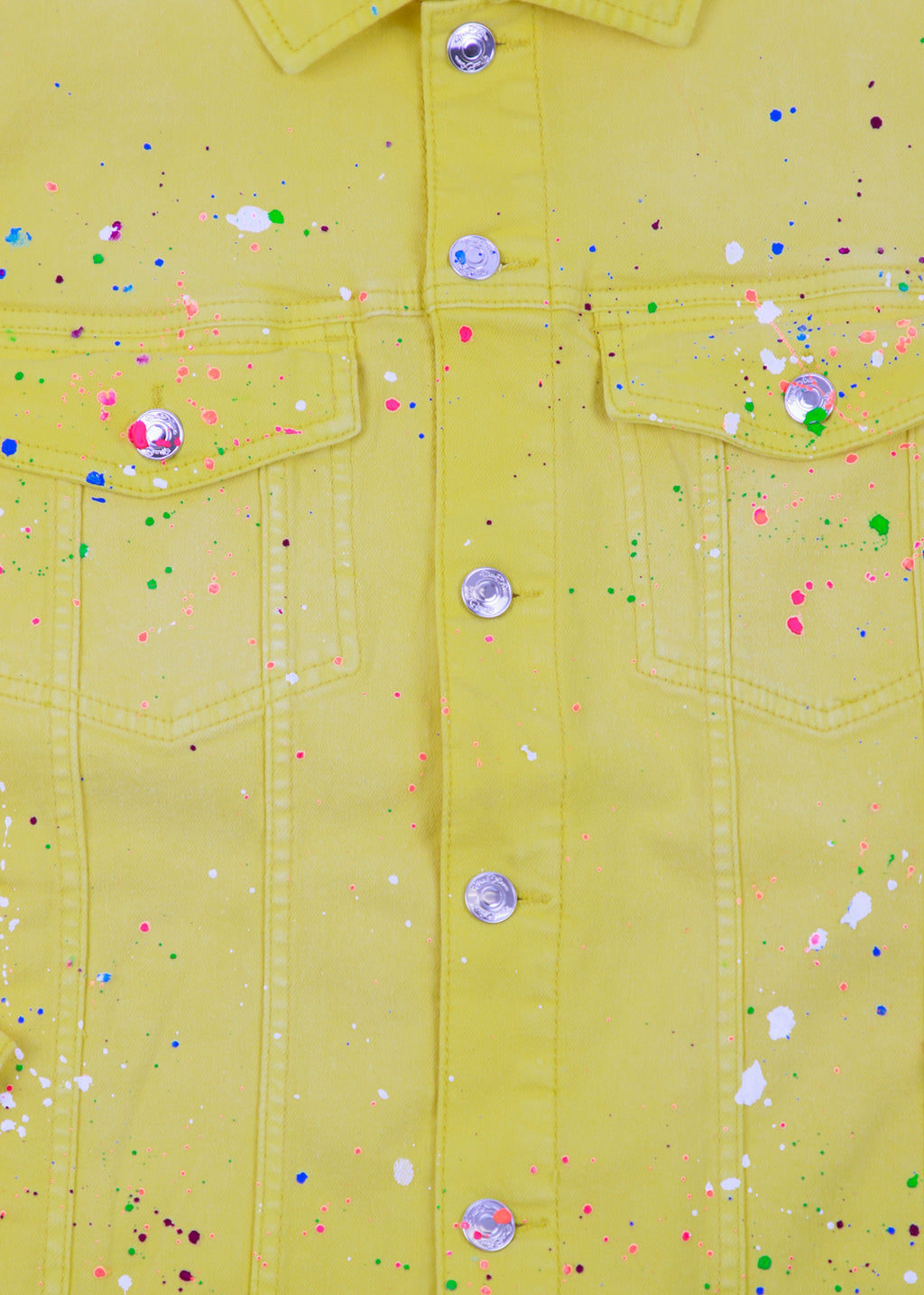 QUENTIN YELLOW SPLATTER JACKET