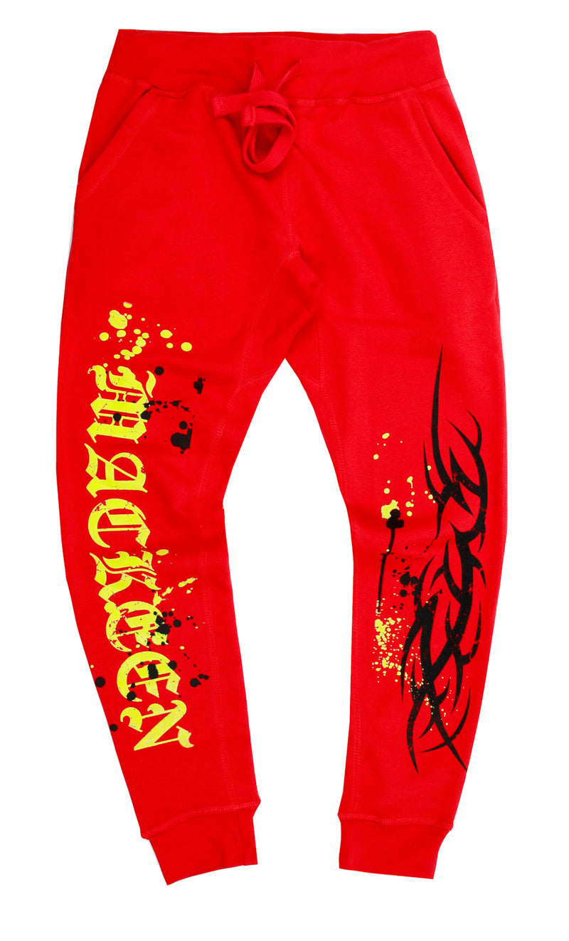 GRAIL FLEECE SWEATPANT RED