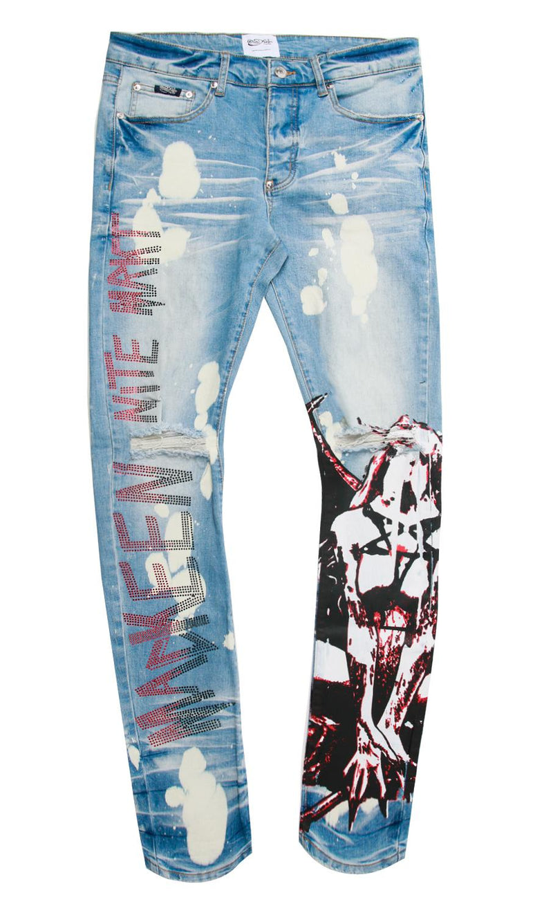 LILITH DENIM PANT LIGHT
