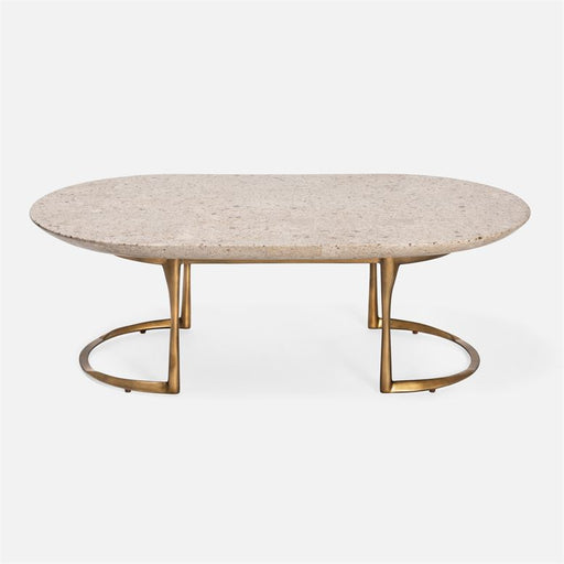 Corrine Oval Terrazzo Coffee Table