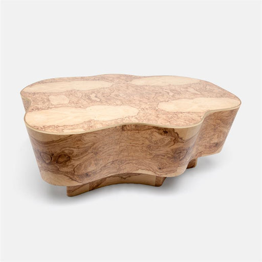 Page Burl Wood Coffee Table