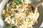 Sweet Corn, Basil & Lemon Pasta