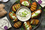 Creamy Herb and Chive Hasselback Potatoes