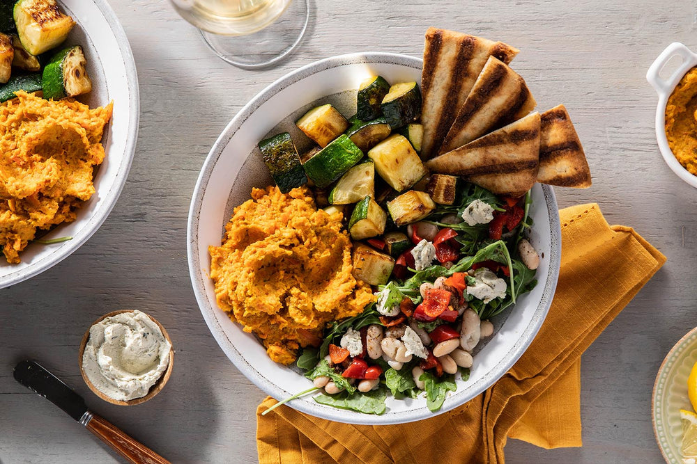 Purple Carrot's Roasted Carrot Hummus Bowl