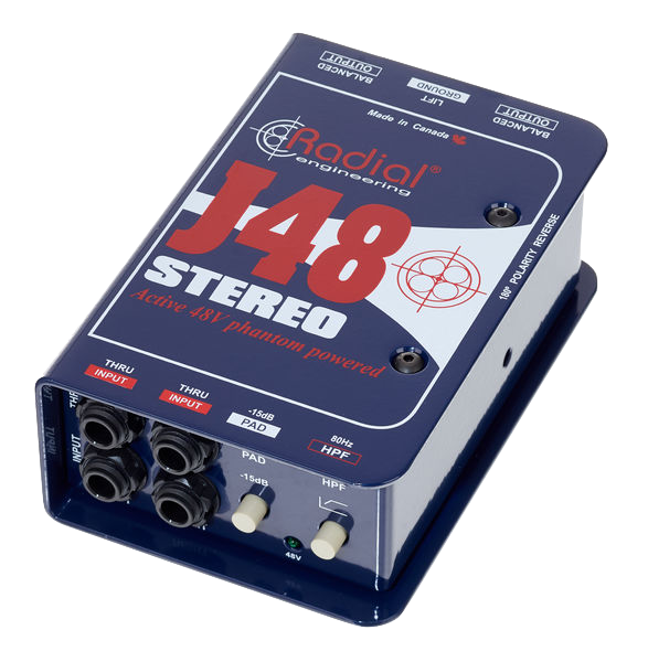 Radial Engineering J48 Stereo Active Premium DI box