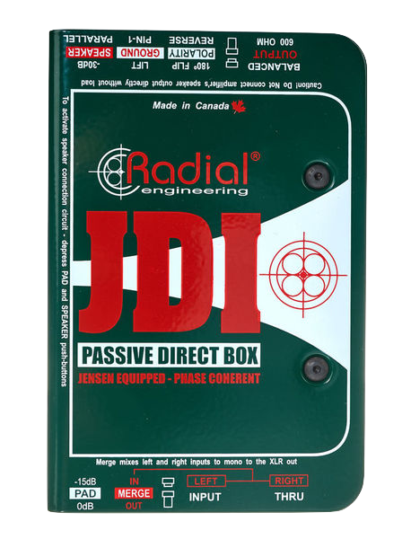 Radial Engineering J DI Premium Passive mono DI box