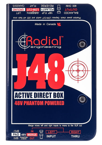 Radial Engineering J48 Premium Active mono DI box