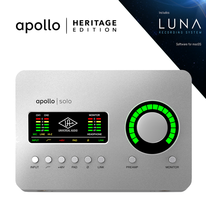 Universal Audio Apollo Solo Thunderbolt 3 - Heritage Edition