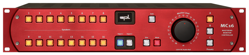 SPL MC16 Mastering Monitor Controller Red