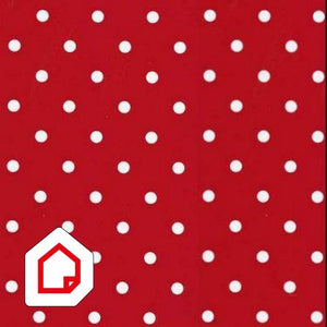 Vinyl Depot Self-Adhesive Polka Dot Red 450mm/m
