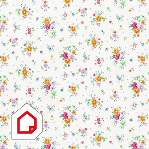 d-c-fix Self-Adhesive Vinyl Floral Spray White 450mm/m