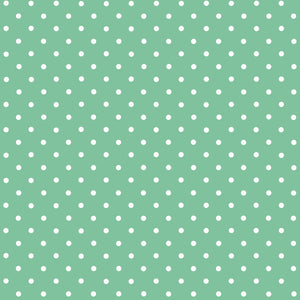 Polka Dot Mint d-c-fix Self-Adhesive Vinyl 450mm/2m NEW RANGE!