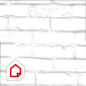 Vinyl Depot high quality white brick self-adhesive - 450mm wide /m