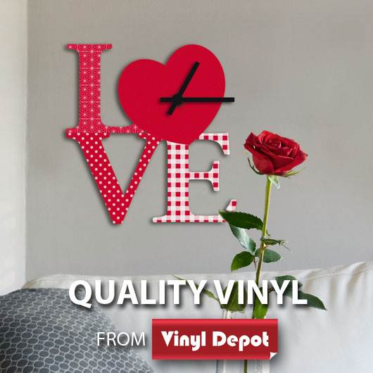 d-c-fix O´Deco Clock Love 3D Foam Shape Wall D?cor Stickers
