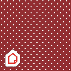 Polka Dot Red d-c-fix Self-Adhesive Vinyl 450mm/2m NEW RANGE!