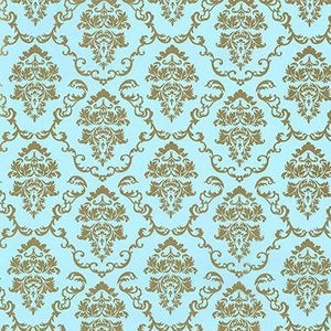 Vinyl Depot Self-Adhesive Baroque Aida Blue/Gold 450mm/m