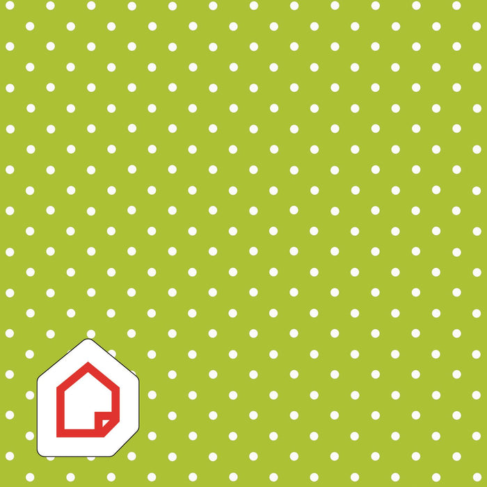 Polka Dot Green d-c-fix Self-Adhesive Vinyl 450mm/2m NEW RANGE!