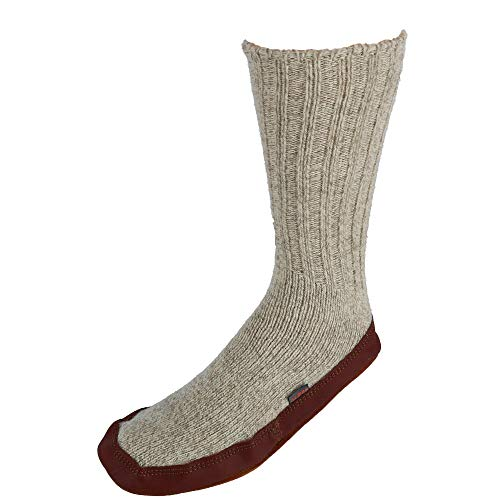 Light Gray Ragg Wool Slipper Sock by Acorn