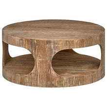 "Load image into Gallery viewer, Stone & Beam Miramar Cutout Coffee Table, 39.4""D, Natural"