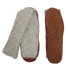 Load image into Gallery viewer, Light Gray Ragg Wool Slipper Sock by Acorn