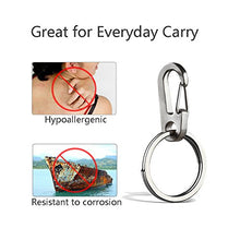 Load image into Gallery viewer, TI-EDC Titanium Keychain Carabiner Clip - Mini Quick Release Snap Hook and Key Ring, Key Organizer Holder for Men and Women