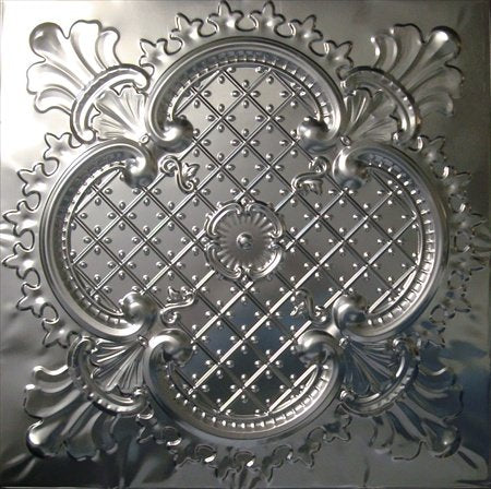 Tin Ceiling Tiles #104, Unfinished Nail-up, Authentic Tin/metal Ceiling Tile