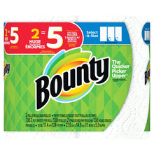 Load image into Gallery viewer, Bounty Select-a-Size Paper Towels, White, 8 Huge Rolls = 20 Regular Rolls