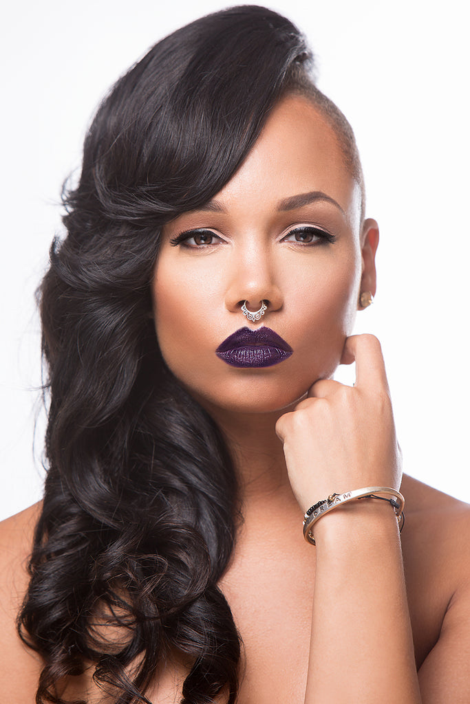 Model wearing Dark Lips for Fall Trend. Model is wearing Bankhead Shawty.
