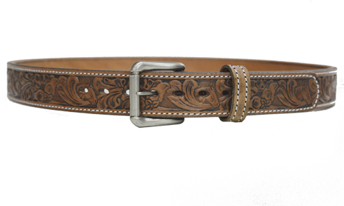 Embossed Horse and Floral Belt - armourbelts.com
