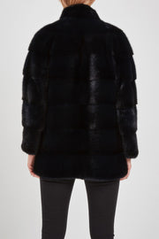 Black mink fur coat