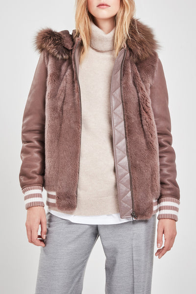Mink fur & shearling jacket