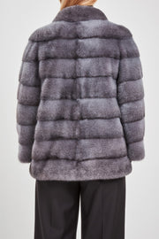 Cross mink fur jacket