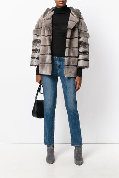 Mink & down fur jacket