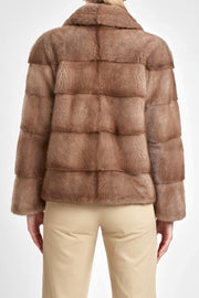 Pastel mink fur jacket