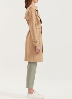 Soft technic trench coat