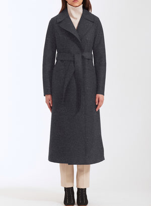 Long maxi coat pressed wool