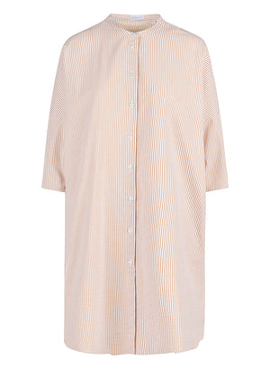Woven oversized shirt dress