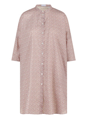 Liberty popeline oversized shirt dress
