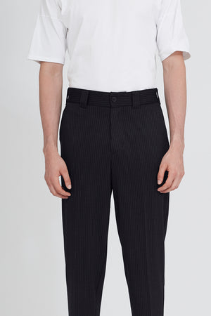 Tropical wool relaxed trousers