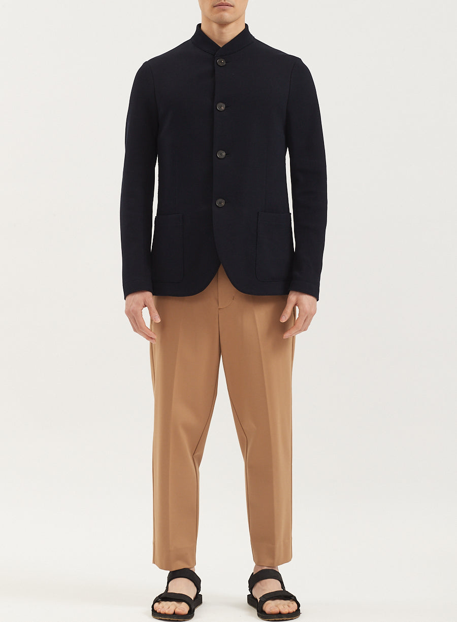 Men Nehru Jacket Loro Piana Cavalry Twill