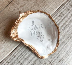 Customized Oyster Shell Trinket Dish