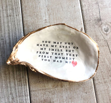 Load image into Gallery viewer, Custom Adoption Oyster Shell Trinket Dish