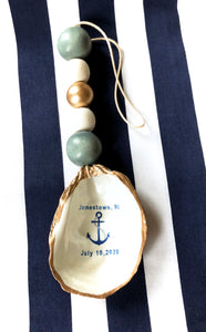 Customized Wedding Oyster Shell Ornament